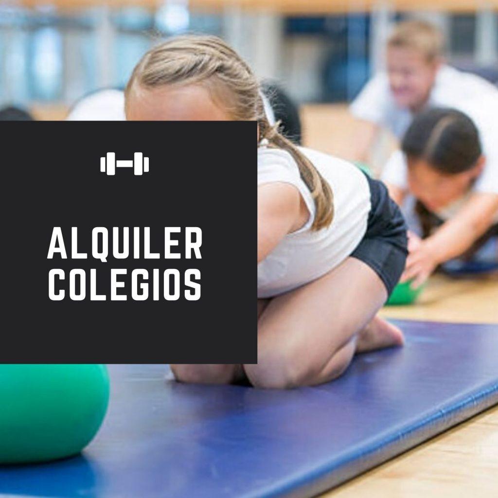 alquiler maquinas gimnasio colegios
